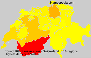 Familiennamen Clausen - Switzerland