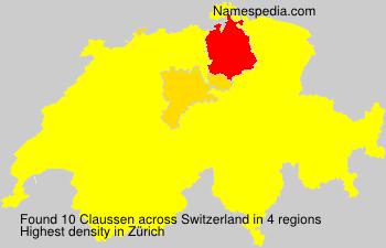 Familiennamen Claussen - Switzerland