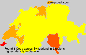 Surname Coda in Switzerland