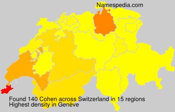 Familiennamen Cohen - Switzerland