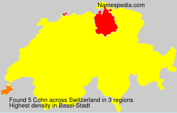 Surname Cohn in Switzerland