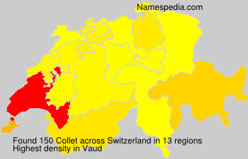 Surname Collet in Switzerland