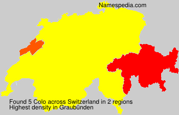 Surname Colo in Switzerland