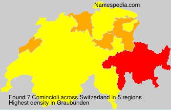 Surname Comincioli in Switzerland