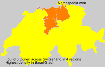 Surname Conen in Switzerland