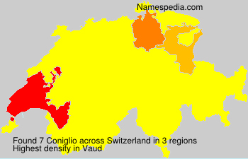 Surname Coniglio in Switzerland