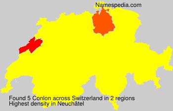 Surname Conlon in Switzerland