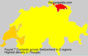 Surname Contardo in Switzerland