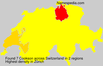 Surname Cookson in Switzerland