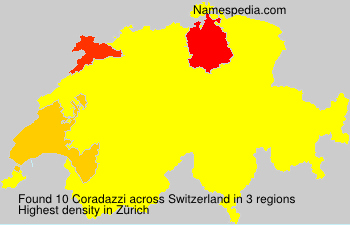 Surname Coradazzi in Switzerland