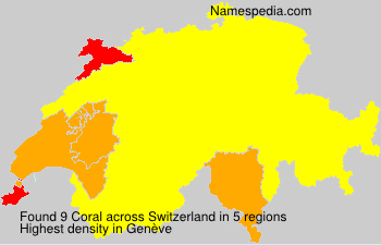 Surname Coral in Switzerland