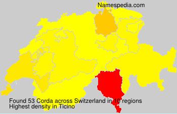 Familiennamen Corda - Switzerland