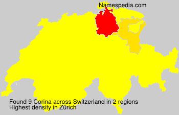 Surname Corina in Switzerland