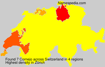 Surname Cornejo in Switzerland