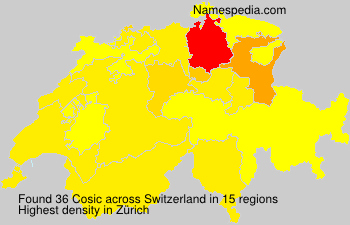 Surname Cosic in Switzerland