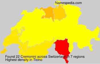 Surname Cremonini in Switzerland