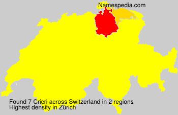 Surname Cricri in Switzerland