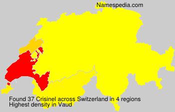 Surname Crisinel in Switzerland
