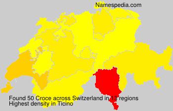 Surname Croce in Switzerland