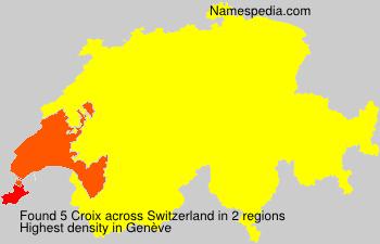 Familiennamen Croix - Switzerland
