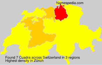 Surname Cuadra in Switzerland
