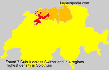 Familiennamen Cubuk - Switzerland