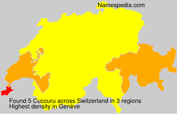 Surname Cuccuru in Switzerland