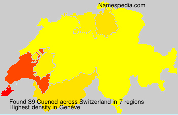 Surname Cuenod in Switzerland