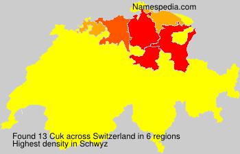 Surname Cuk in Switzerland