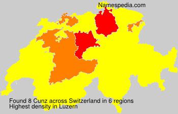 Surname Cunz in Switzerland