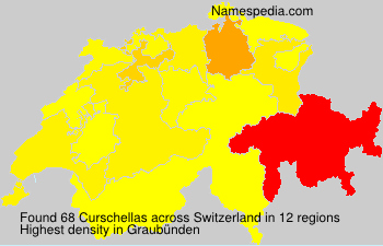 Surname Curschellas in Switzerland