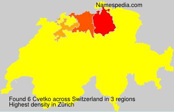 Surname Cvetko in Switzerland