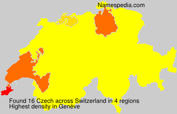 Surname Czech in Switzerland
