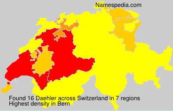 Surname Daehler in Switzerland