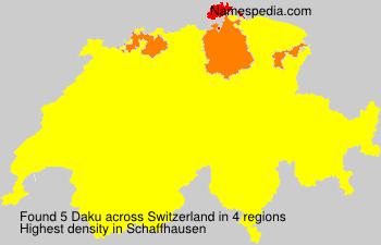 Familiennamen Daku - Switzerland