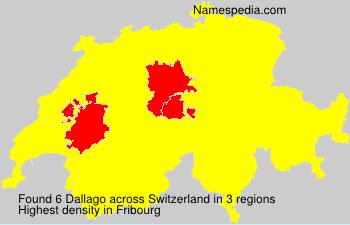 Familiennamen Dallago - Switzerland