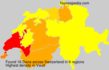 Surname Dana in Switzerland