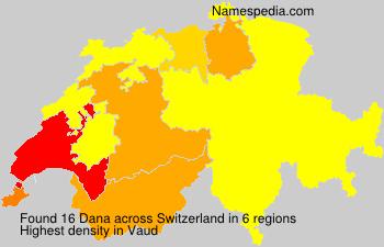 Surname Dana in Switzerland