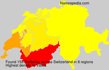 Surname Darbellay in Switzerland