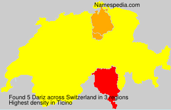 Surname Dariz in Switzerland