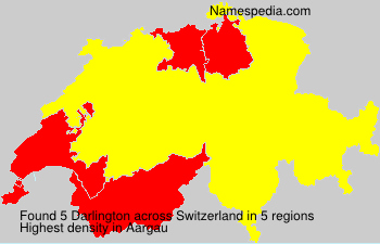 Surname Darlington in Switzerland