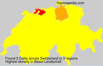 Surname Datta in Switzerland