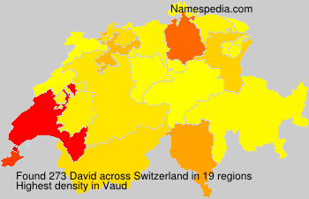 Surname David in Switzerland