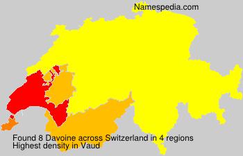 Surname Davoine in Switzerland