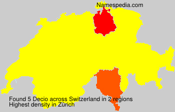 Surname Decio in Switzerland