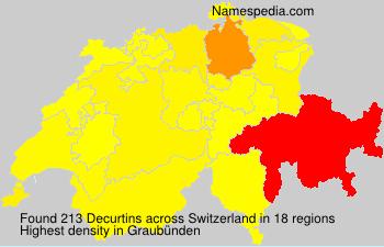 Surname Decurtins in Switzerland