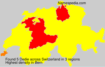 Surname Dedie in Switzerland