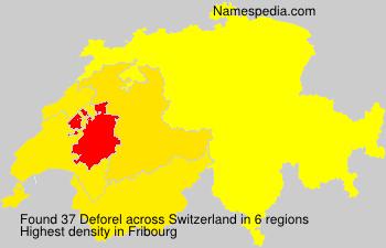 Surname Deforel in Switzerland