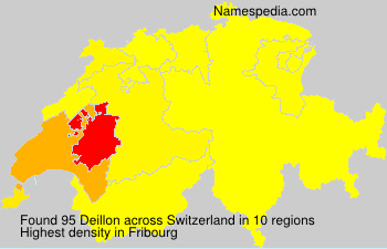 Surname Deillon in Switzerland