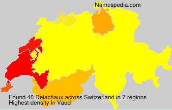Surname Delachaux in Switzerland
